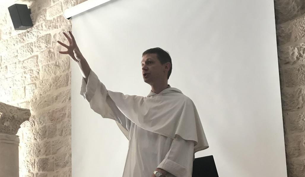 o. Łukasz Popko OP - wykład w École biblique et archéologique française de Jérusalem
