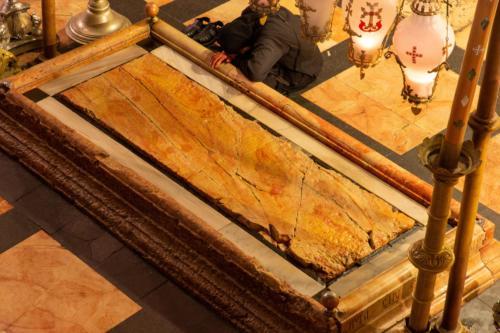 Bazylika Bożego Grobu - płyta namaszczenia